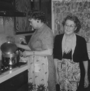 Mildred and Ottie cooking, circa 1966/7