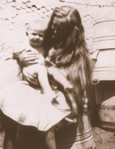 Ottie and her youngest child, Rex. Circa 1929